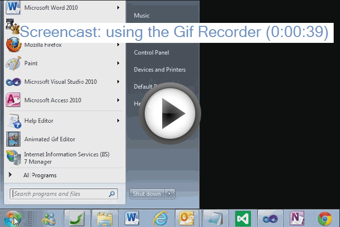 animated gif recorder video